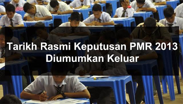 Semakan Keputusan PMR 2013 - Online dan SMS
