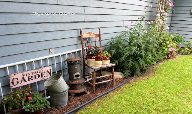Back yard junk garden vignette