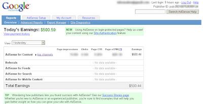ScreenShoot Google Adsense