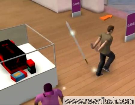 Jogos em 3D, jogos de simulação: Simulador de compras de natal.