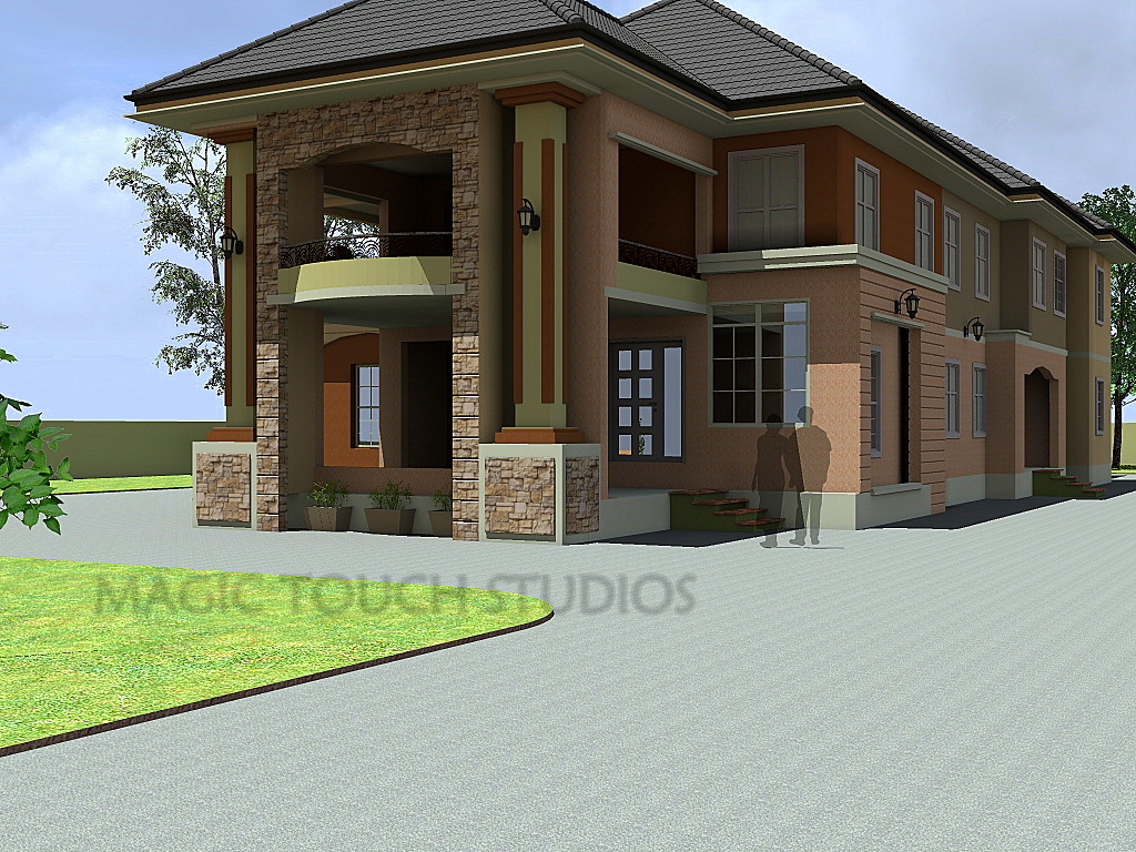 4 bedroom duplex with attached two bedroom flat for Four bedroom flat