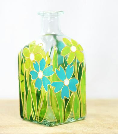 glass painting patterns amazing glass bottle painting