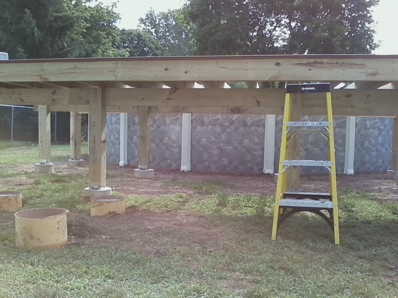 Home remodeling and improvements tips and how tos trex composite 2 x 8 pressure treated deck frame platform baanklon Images