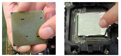 Colocación de un microprocesador