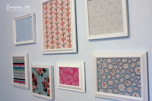 Everyday Art: Framed Fabric Display