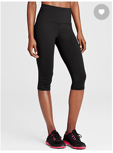 My top 10 Favorite Workout Items!  www.HealthyFitFocused.com, Julie Little, workout from home, Victoria's Secret Crop Pants
