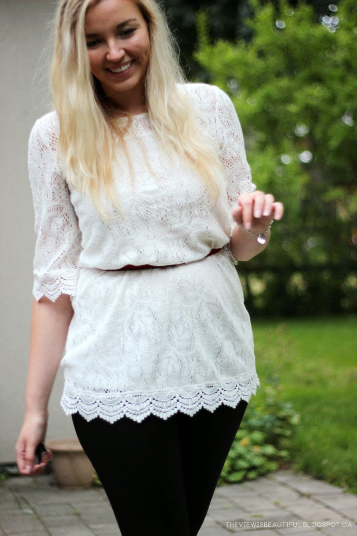 Leather & Lace #Style | www.theviewisbeautiful.blogspot.ca
