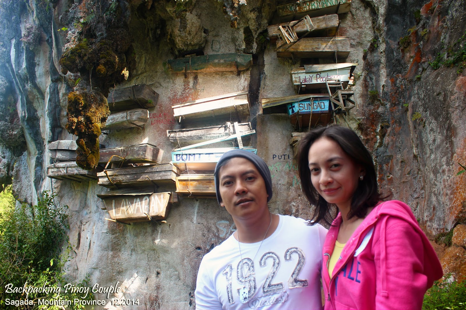 Backpacking Pinoy Couple, Sagada, Mountain Province, Philippines, Echo Valley, Hanging Coffins