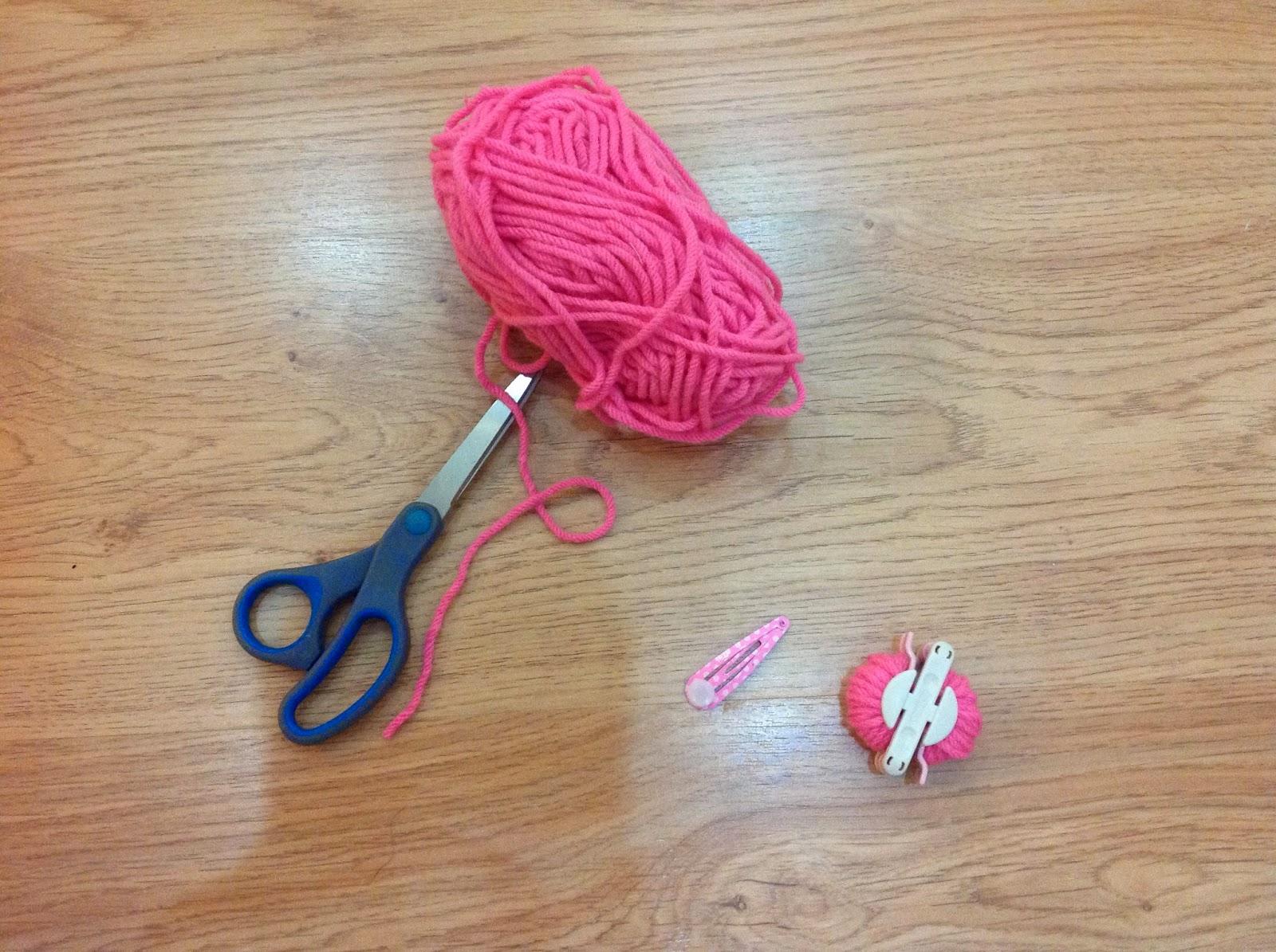 pom pom, hairclips, handmade, DIY, gift ideas