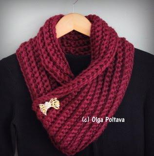 Chunky Cowl Crochet Pattern, $2.29