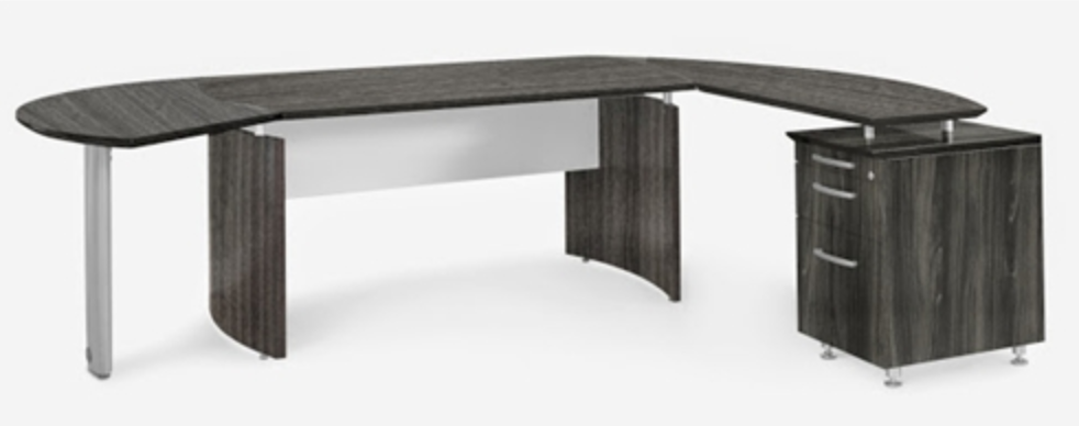 Mayline Medina Gray Steel Desk Suite