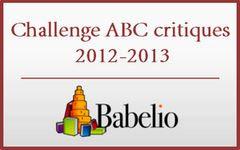 Challenge ABC critiques 2012-2013