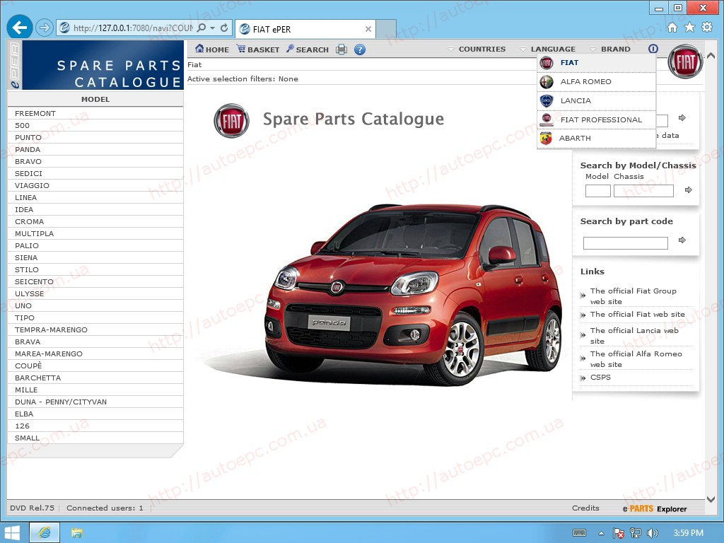AutoParts Catalogs: FIAT - EUROPE (ePER)