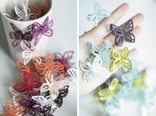 fellow fellow butterfly garland guirnalda de mariposas