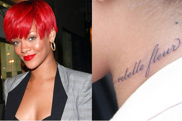 Stylish Rihanna's Tattoos