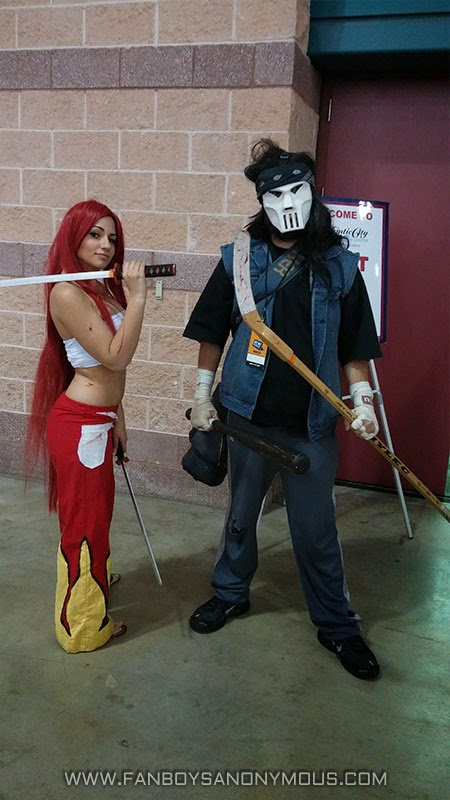 Erza Scarlet cosplay Casey Jones