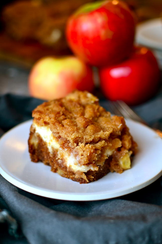 apple coffee crumb cake with brown sugar glaze sour cream coffee cake ...