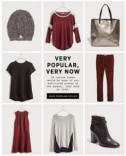 Now on Madewell Simplified: Favored. Loved. Wanted. - Very Popular, Very Now Styles...