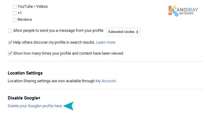 Delete your Google+ profile here.