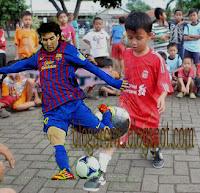 Lionel Messi dan Tristan Alif