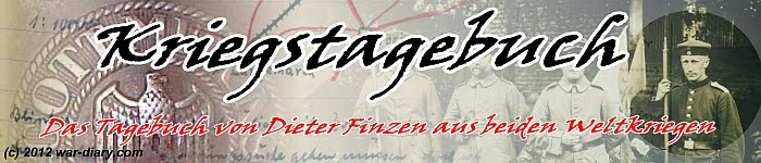 The war diaries of Dieter Finzen in both world wars