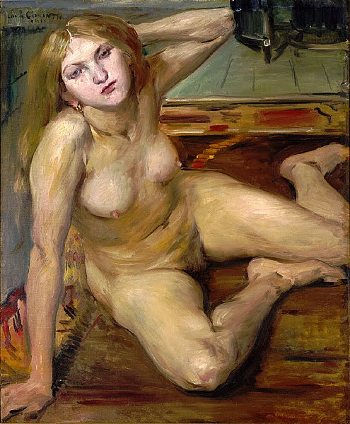 Public Domain Photo: 'Nude girl on a rug' (1912), oil on canvas painting by ...