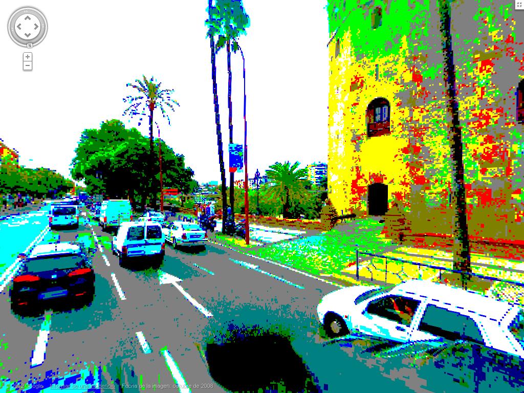 Hasta la Street View está en 8 bits...