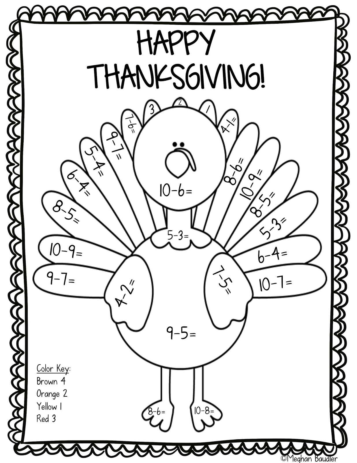 thanksgiving coloring pages and worksheets - photo#17