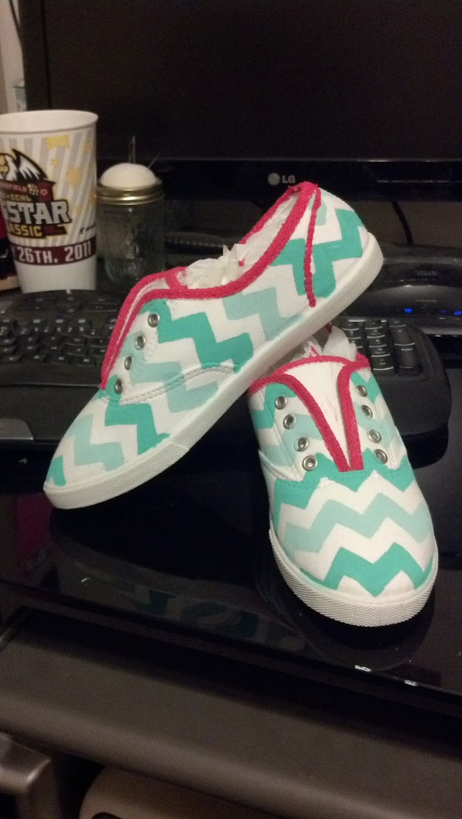 krafty kas diy chevron canvas shoes