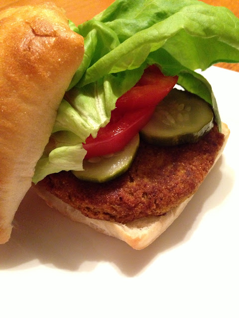 The Comforting Vegan : Homemade Vegan Lentil Burger