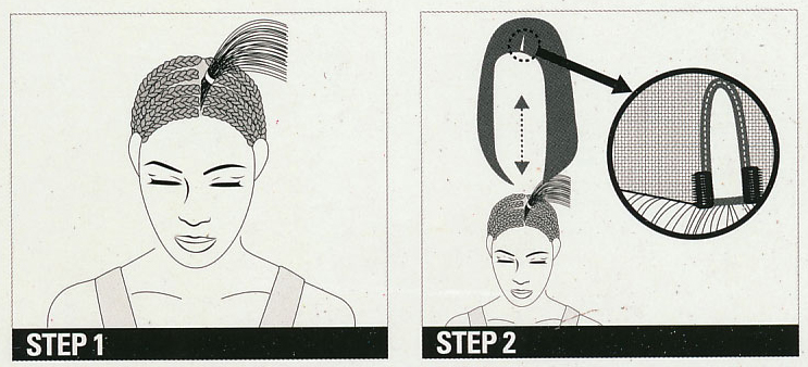Step 1. Eye mark the area where the INVISIBLE PART WIG will be placed