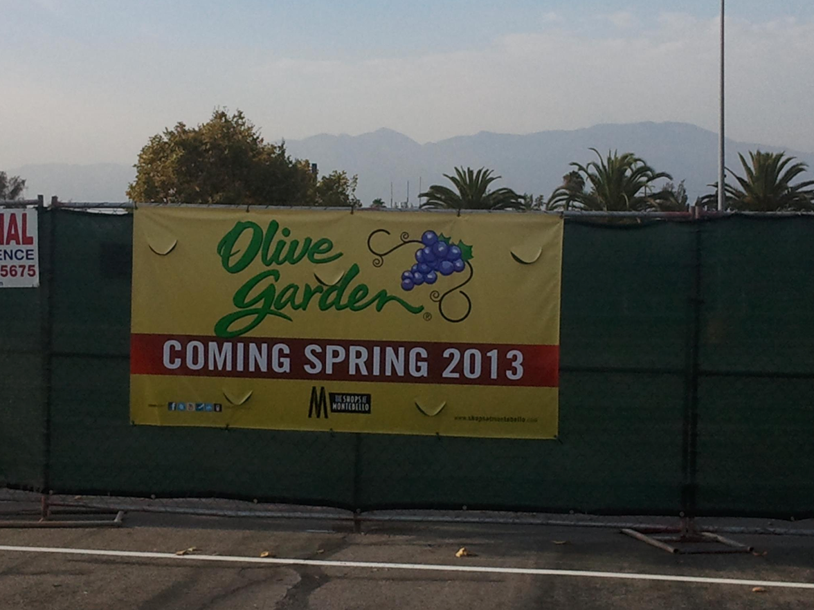 Montebello Mom: Olive Garden in Montebello / Rosemead is now open!