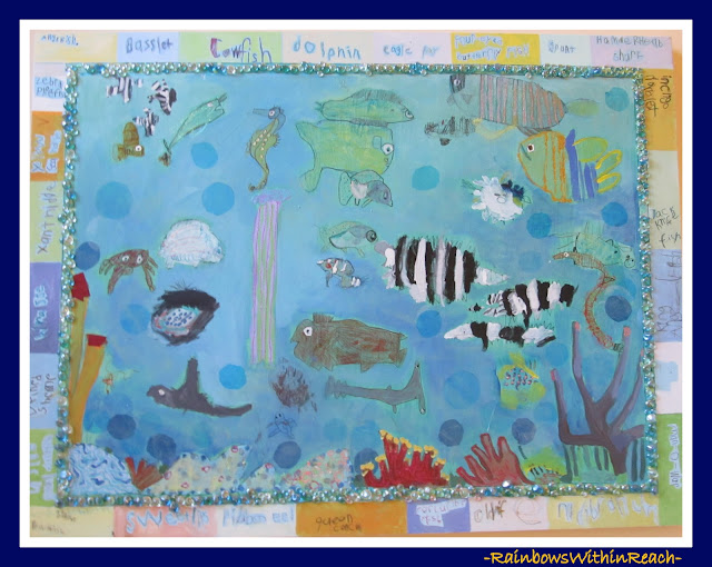 Underwater Collaborative Art Project via RainbowsWithinReach