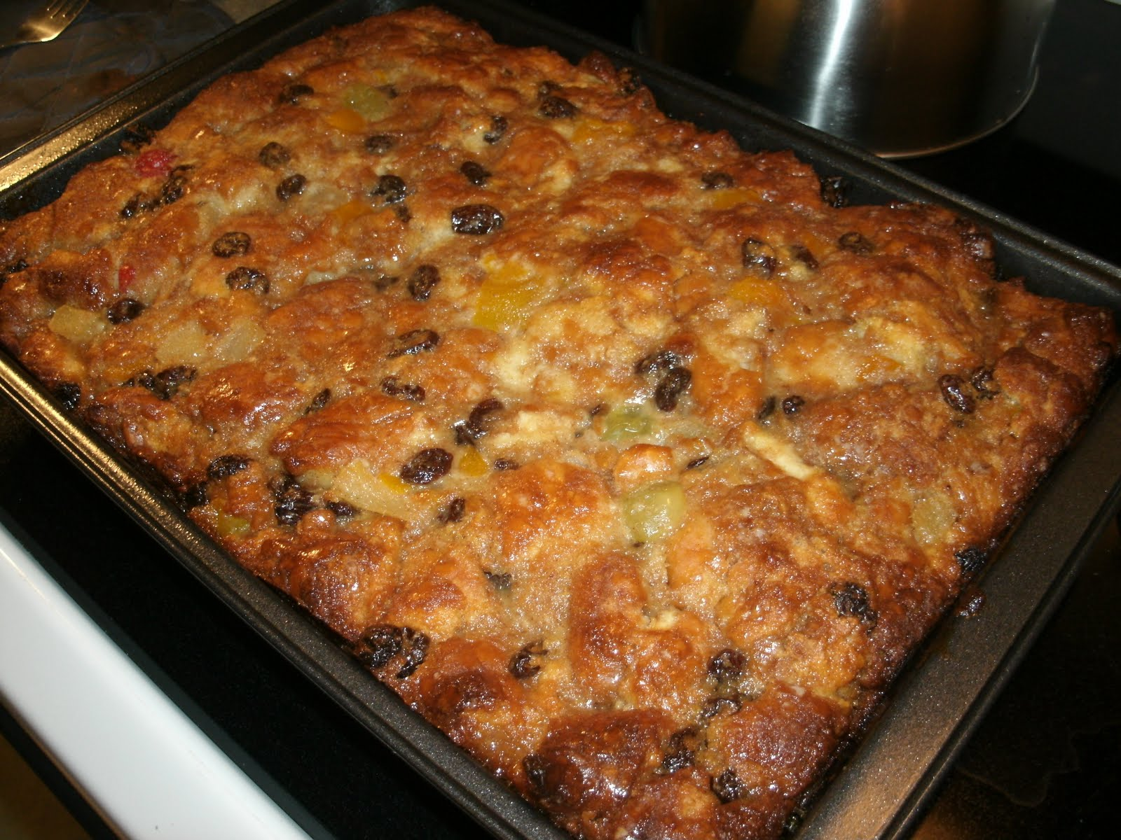 ... Paula Deen's Glazed Doughnut Bread Pudding. It's sooo pretty, though