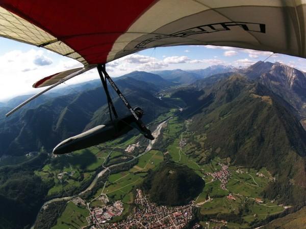 Hang gliding over Soca Valley in Slovenia with Matjaz Klemencic