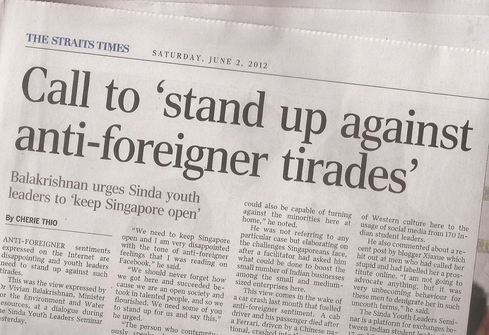 anti foreigner sentiments possessed by singaporeans On the foreigner-fear sentiment and inequality in singapore  negative sentiments towards non-singaporeans  to how such feelings of anti-foreigner sentiments .