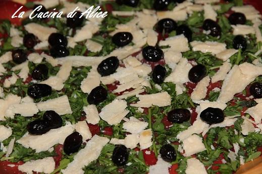 La cucina di alice carpaccio di bresaola con olive marinate