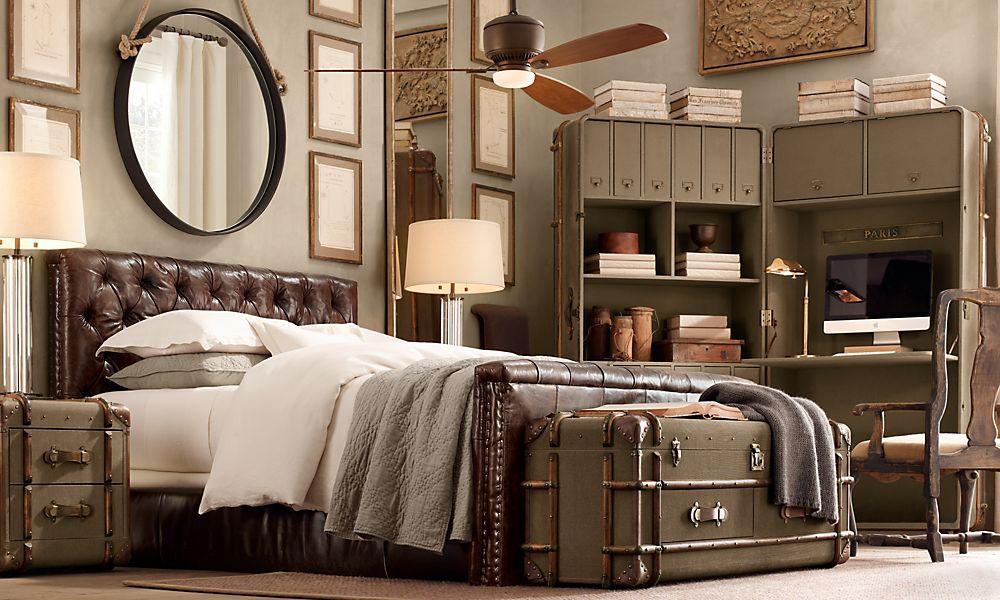 Restoration Hardware Loft Bed Black With Desk