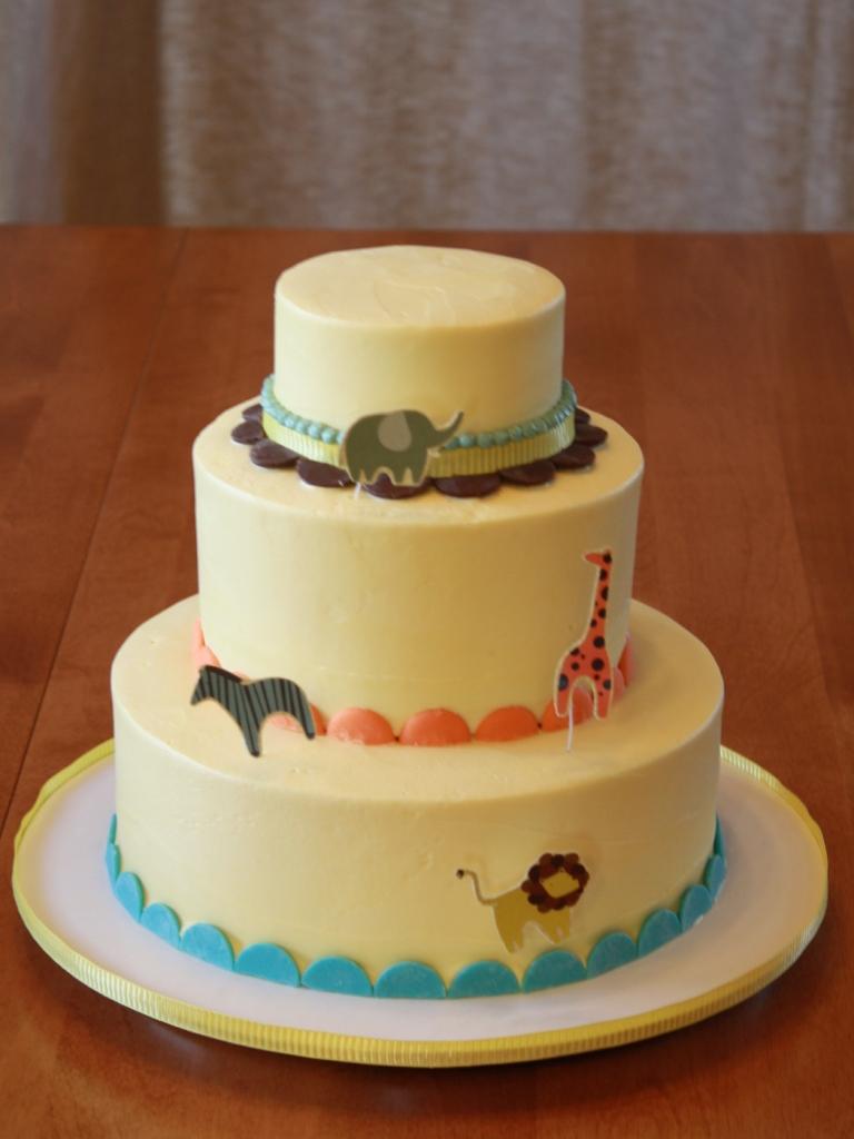 Party Cakes: Animal Parade1st Birthday Cake