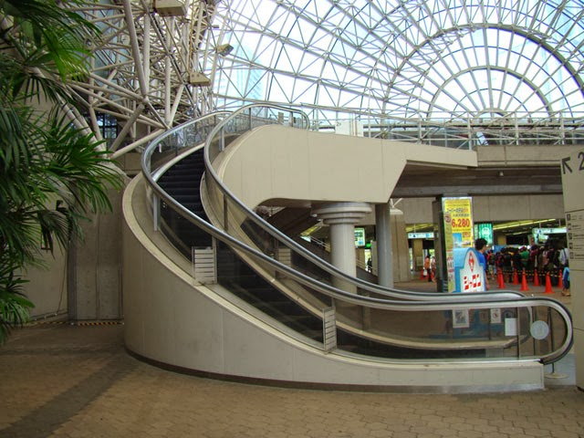 curved escalators