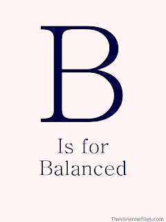 B is for Balanced in the ABC's of Chic Sightings