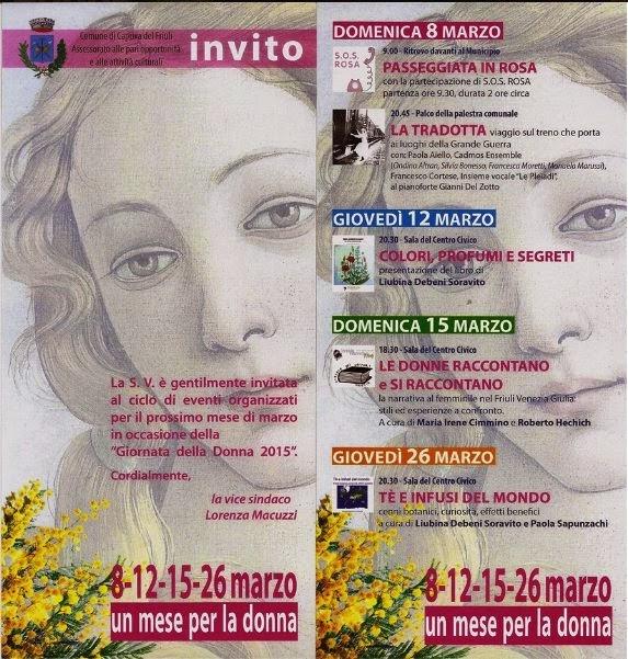 Un mese per la donna a Capriva Del Friuli: