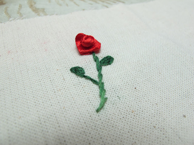 how to make ribbon roses embroidery