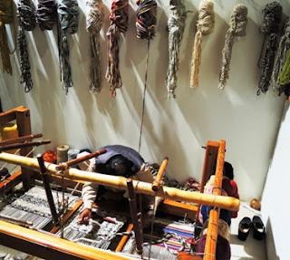 hand weaver, rug, loom, Wesco Fabrics