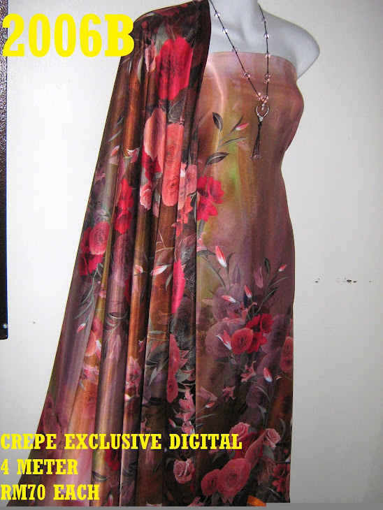 CP 2006B: CREPE EXCLUSIVE DIGITAL PRINTED, 4 METER