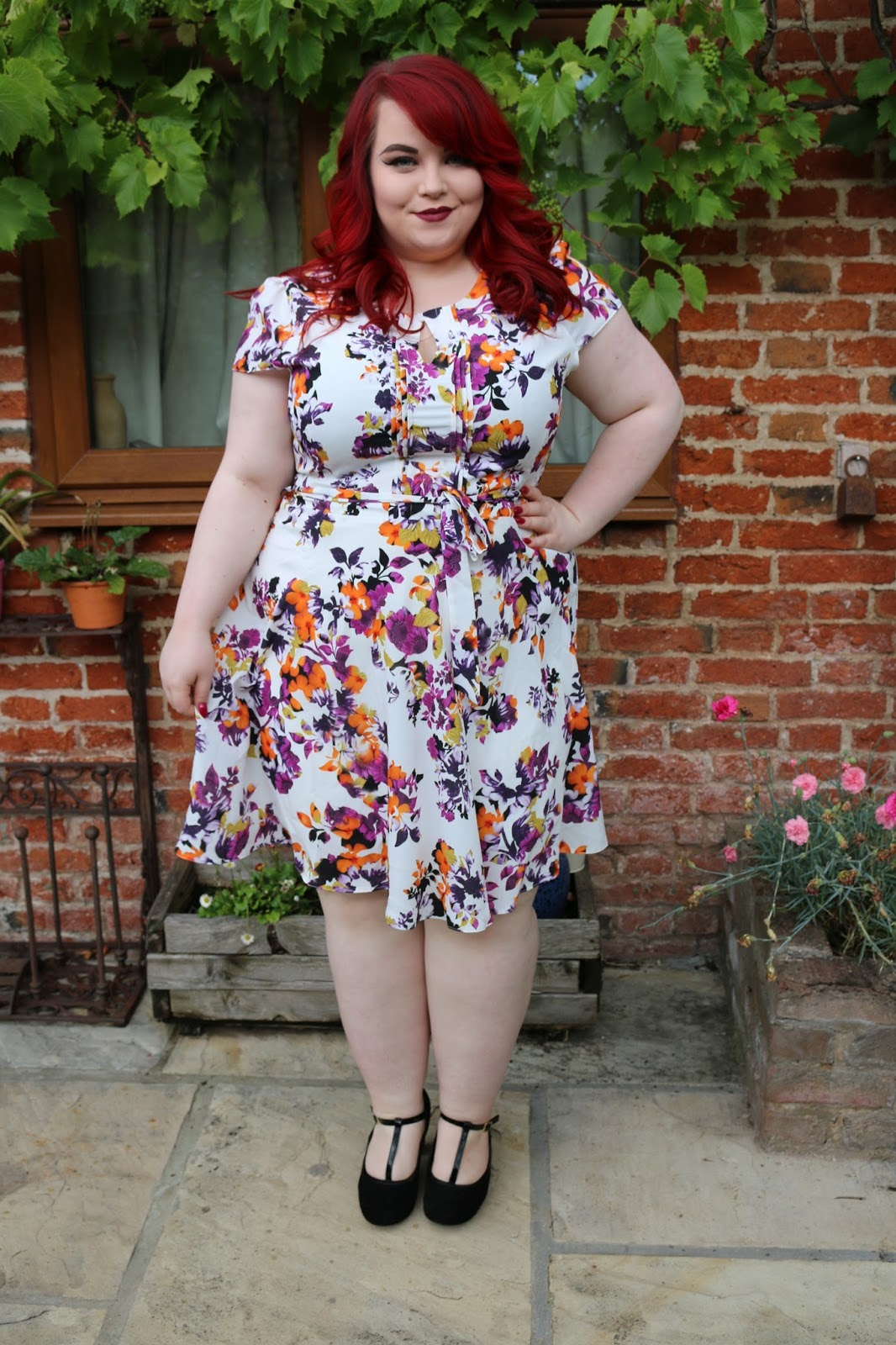 Curvissa Floral Summer Tea Dress