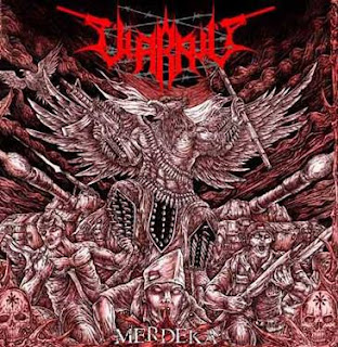 Top 15 Indonesian Black Metal Album Cover in 2015, Abgotter Rebeligion, Deafness Endless Starving EP, Dry Serpihan Debu, Grace Road to Wisdom, Hellsing The Fallen A Sinister Declaration of Fire, Imperial Promo CD 2015, Impish Animate Robot the Killer, Mortt Demo 2015, Nicronomondez Dark Side of Divinity, Nicrotek  Strange Sounds from the Sky, Nicrotek Atmosphere VII, Nicrotek Into the Ancient Night Skies, Rajam The Jackals Regiment, Vallendusk Homeward Path, Warkvlt Merdeka