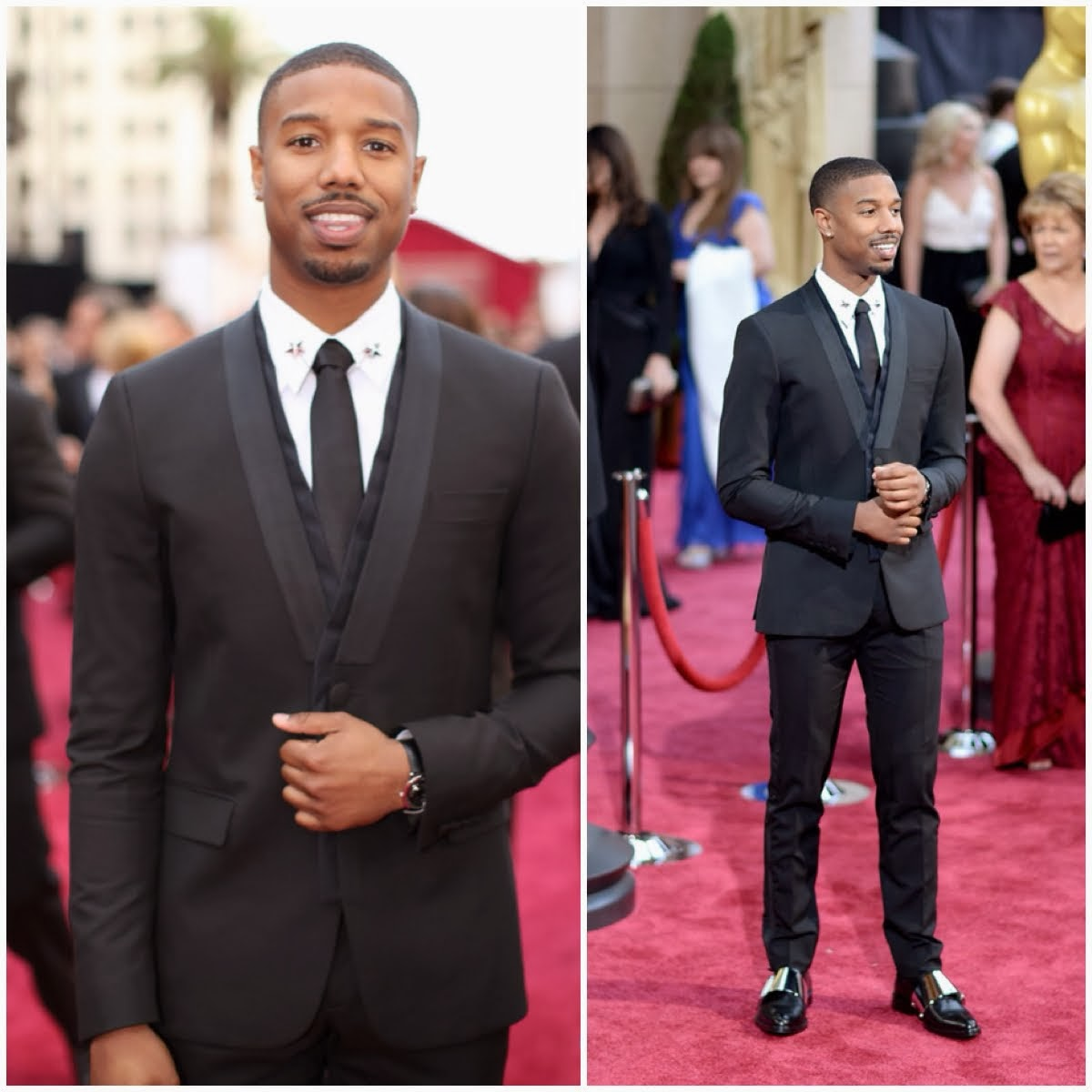 Michael B. Jordan in Givenchy Haute Couture by Riccardo Tisci - 86th Annual Academy Awards