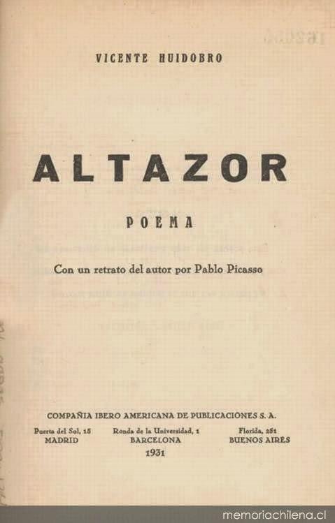 Altazor - Vicente Huidobro