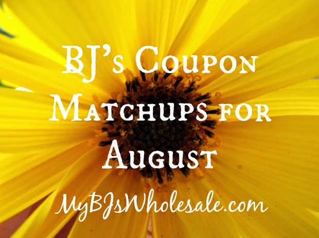 BJ's Coupon Matchups for August